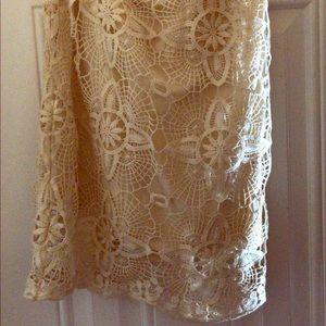 NastyGal pencil lace skirt